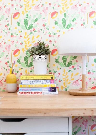 Modern Arbeitszimmer by Spoonflower