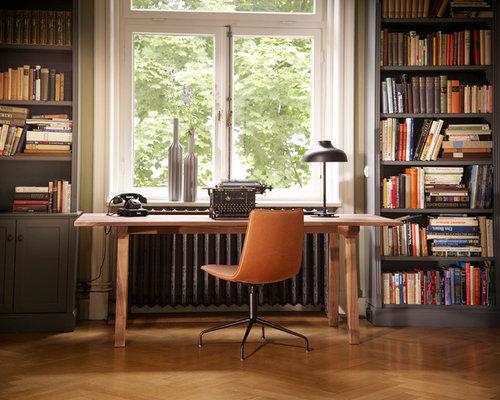 Moderne arbeitszimmer ideen design bilder houzz - Arbeitszimmer wandfarbe ...