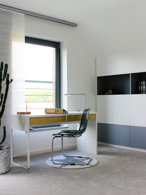 modernes arbeitszimmer ideen f r ihr home office design houzz. Black Bedroom Furniture Sets. Home Design Ideas