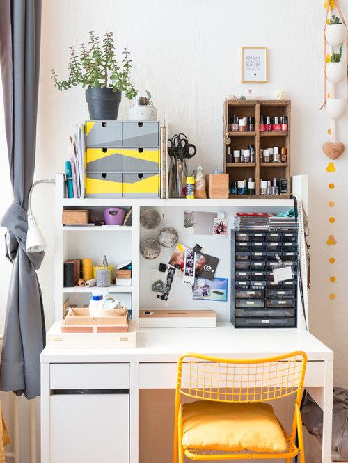 Kleine arbeitszimmer ideen design bilder houzz for Arbeitszimmer wandfarbe