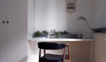 Blomlåda på skrivbord