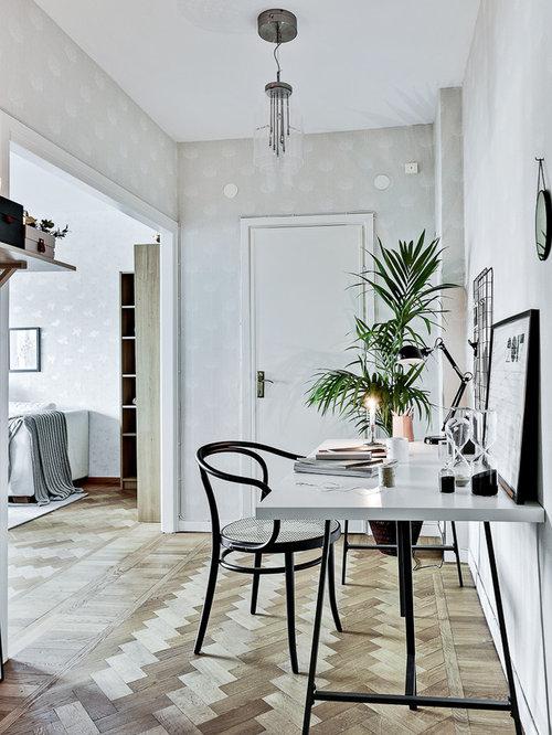Skandinavischer stil bilder ideen houzz for Wandfarbe arbeitszimmer