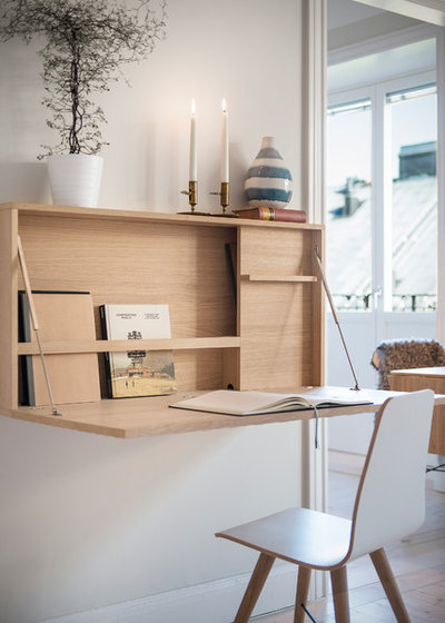 Scandinavian Home Office & Library by elisabethphotography.com
