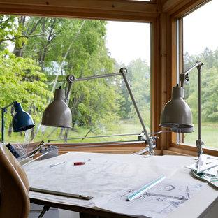 ストックホルムのアジアンスタイルのおしゃれなホームオフィス・仕事部屋の写真