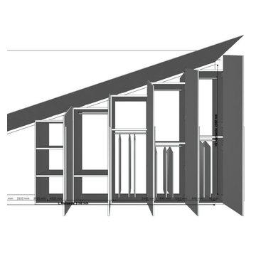 Progetto e Realizzazione di un armadio su misura mansardato