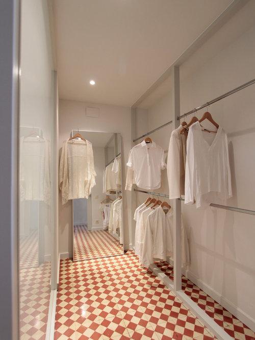 diseo de armario vestidor unisex nrdico grande con armarios abiertos suelo de