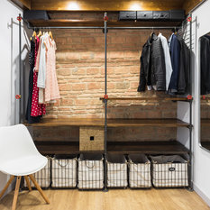 Industrial Closet With Open Cabinets Ideas