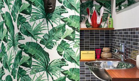 Papel pintado en el baño: 5 propuestas que te van a encantar