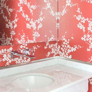 На фото: со средним бюджетом туалеты среднего размера в современном стиле