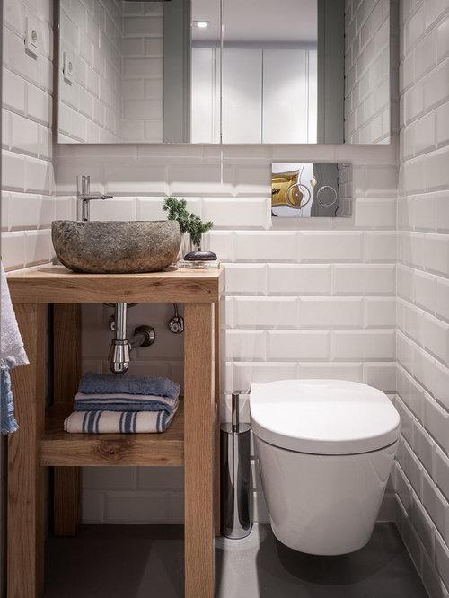 kleine g stetoilette g ste wc mit hellbraunen. Black Bedroom Furniture Sets. Home Design Ideas