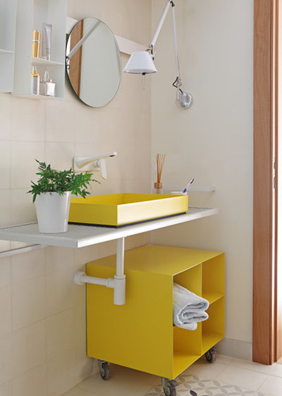 Contemporary Powder Room by Rubio and Ros