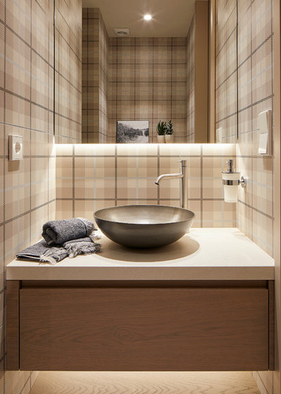 Contemporary Powder Room by MOLINS DESIGN