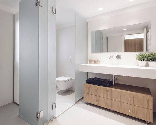 Handfat Toalett : Foton och inspiration för toaletter med ett avlångt handfat