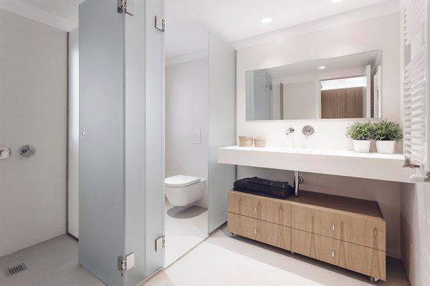 Ba o compartido consejos de dise o para evitar los for Casa minimalista rectangular