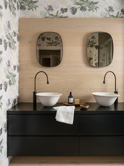 Beach Style Powder Room by The Room Studio