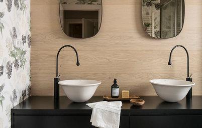 12 façons d'utiliser le noir pour sublimer une salle de bains