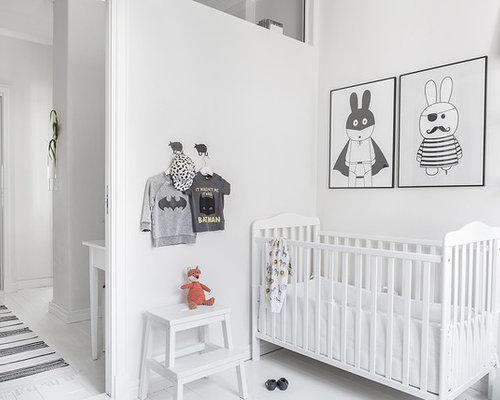 Skandinavische babyzimmer mit gebeiztem holzboden ideen - Babyzimmer skandinavisch ...