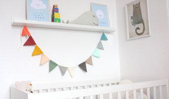 Babyzimmer in Hellblau mit Pastell