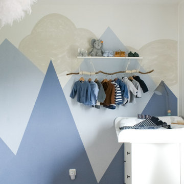 Nappy Corner with Mountain Mural