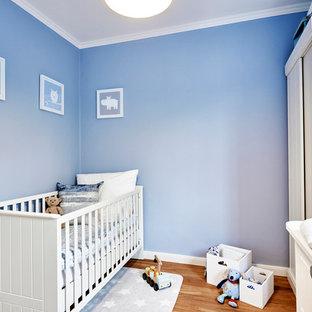 Chambre de bébé avec un mur bleu Allemagne : Photos, aménagement et ...