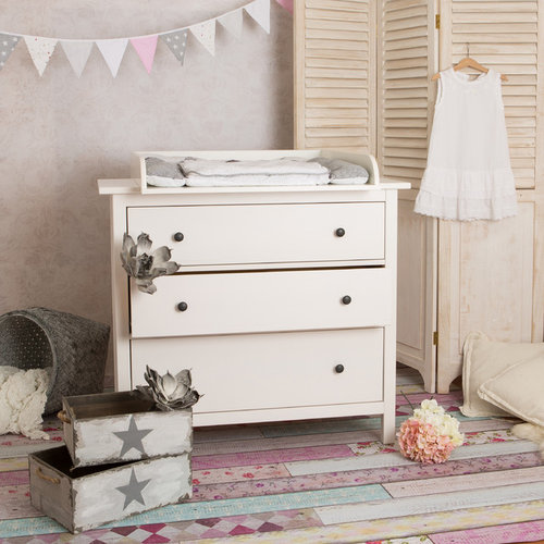 Best farmhouse nursery design ideas remodel pictures houzz - Ikea commode chambre ...