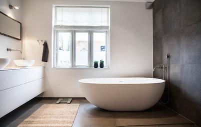 Top 15: De mest populære danske badeværelser på Houzz