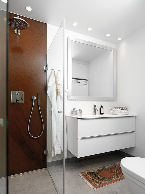 Best Bathroom with Laminate Countertops and Stone Slab ...