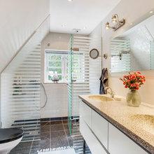 Inspiration til glasdøre i badeværelse