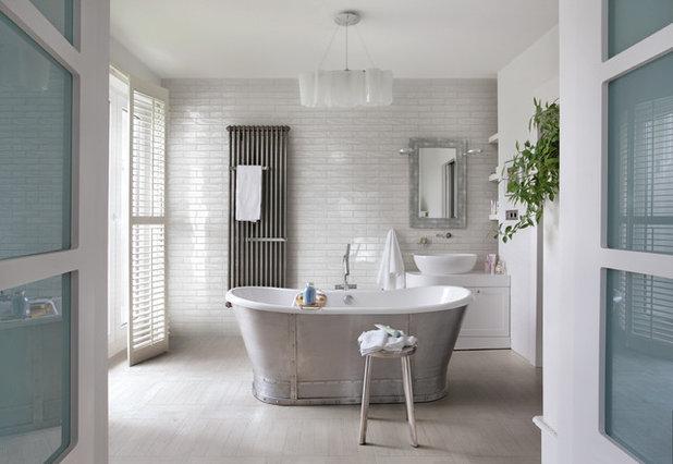 Transitional Bathroom by Dansk Flise Import