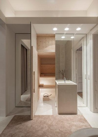Moderno Stanza da Bagno by destilat Design Studio GmbH