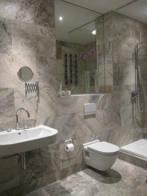 Badezimmer mit travertin boden ideen & beispiele für die ...