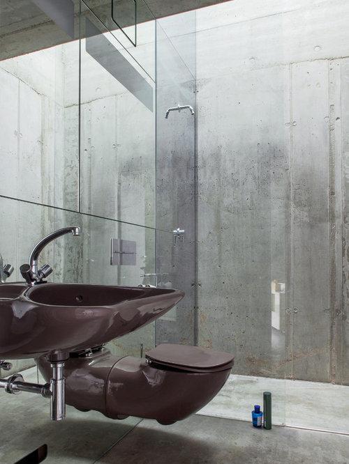 Industrial badezimmer ideen design bilder houzz for Badezimmer design berlin