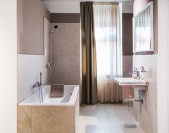 sch n wie ein macaron monochrome farbkonzepte f rs badezimmer. Black Bedroom Furniture Sets. Home Design Ideas