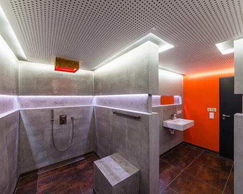 Modernes Badezimmer Mit Offener Dusche In Frankfurt Am Main