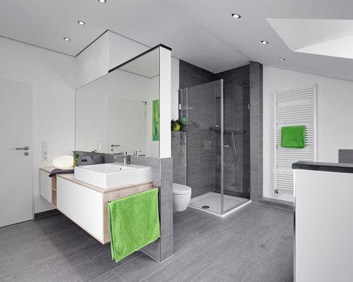 badezimmer mit eckdusche ideen design bilder houzz. Black Bedroom Furniture Sets. Home Design Ideas