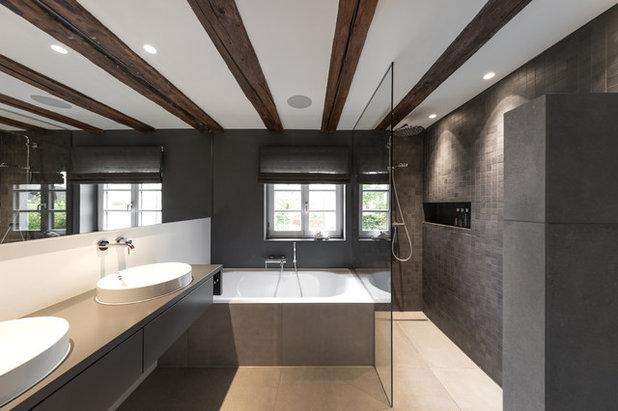 Modern Badezimmer by gerken.architekten+ingenieure