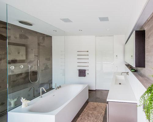 bad mit wanne und raumdusche. Black Bedroom Furniture Sets. Home Design Ideas