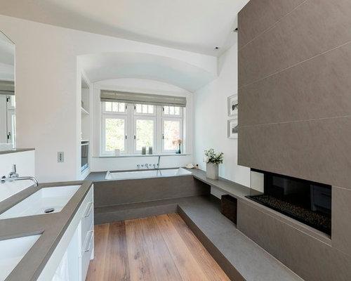 badezimmer mit quarzit waschtisch ideen design bilder houzz. Black Bedroom Furniture Sets. Home Design Ideas