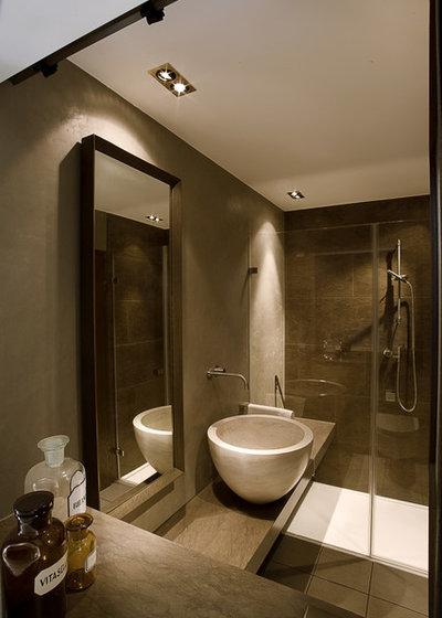 ein mini-bad kommt mit naturstein groß raus!, Badezimmer ideen