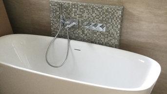 Bad - Naturfarben - freistehende Badewanne