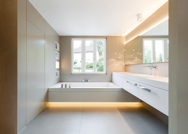 Lichtplanung Badezimmer: Badezimmer Design Mit Durchdachten ... Bad Beleuchtung Modern