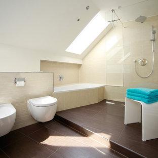 Große Badezimmer mit Eckbadewanne Ideen, Design & Bilder | Houzz