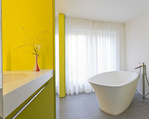 Moderne badezimmer ideen design bilder houzz for Badezimmer design frankfurt