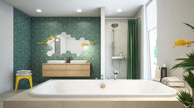 14 salles de bains prennent des airs de hammams. Black Bedroom Furniture Sets. Home Design Ideas