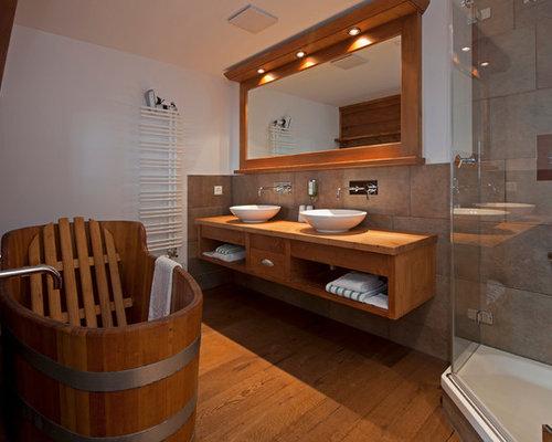 badezimmer im chalet-stil, Badezimmer
