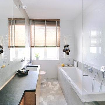 Badezimmer in Beton-Optik