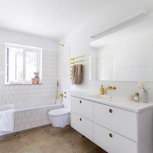 Badezimmer in Hellerup mit Basis01 in Weiß