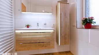 Badezimmer in Holzoptik mit Marazzi