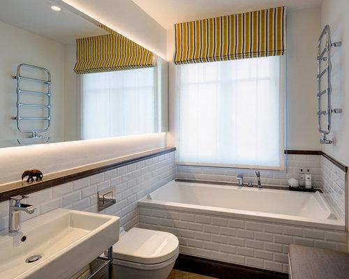moderne badezimmer mit metrofliesen design ideen. Black Bedroom Furniture Sets. Home Design Ideas