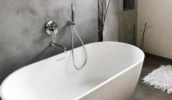 Badezimmer mit Beton ciré